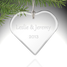cheap crystal glass ornament souvenirs gift Engraved Glass Wedding Hanging Ornaments For Wedding Party Supply