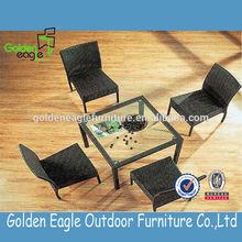 outdoor rattan dinning sets / simple design and popular garden dinning sets