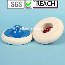 M4 fastening backed Polishing felt wheels/wool felt polishing wheel/ ROSH test passed