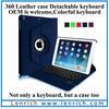 LBK138 Wireless Bluetooth Keyboard 360 Swivel Rotating Stand Keyboard Folio Case for iPad Air 5