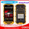 Discovery V6 MTK6572 Waterproof Shockproof Multi language Dual SIM Card Phone