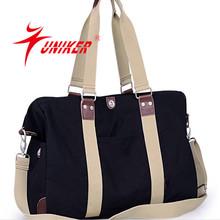 Hot-selling Men's Retro Casual Canvas Leather Shoulder Bag Messenger Bag Travel Men canvas bag
