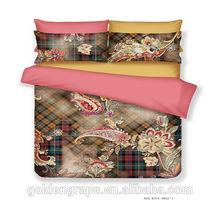 pure cotton 3d bed linen landscape patterns with cotton comforter cover set bed sheet set pillowcase