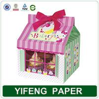 wholesale custom cheap paper mini cupcake boxes