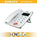 barato teléfono fijo nuevo diseño de oficina fija con cable de identificador de llamadas de teléfono