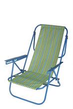 reclining adjustable steel folding beach chair