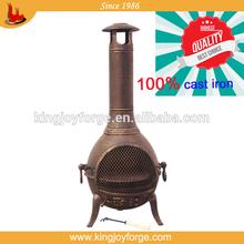 Garden treasure fire pit wooden fireplace/cast iron chimenea