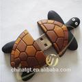 Pvc animales tortuga usb flash drive de memoria de disco, pvc usb stick, usb flash arte