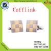 Fashion Stainless Steel enamel Cufflink