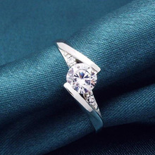 Wholesale 2014 fashion O ring jewelry Crown AAA Cubic CZ wedding rings,stainless steel O ring diamond rings price