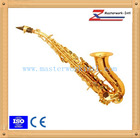 gold lacquer cheap curved soprano sax for sale