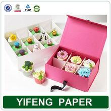 wholesale custom paper cardboard cupcake packaging
