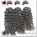 Peinado único y moda 2 # Color brasileño rizado del pelo 3 unids porción de la mezcla