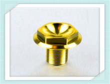 Titanium Front Spindle Bolt 1.5mm pitch yellow