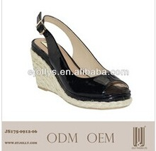 2014 new design girls wedge beautiful lady high heel sandals pictures shoe