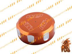 Aftermarket Motorcycle CNC Billet Aluminum Rear Fluid Reservoir Cap Orange for 2012 DUKE 200
