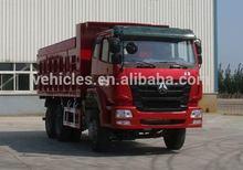 6*4 drive SINOTRUCK HOWO BRAND clinker transport self loading dump truck
