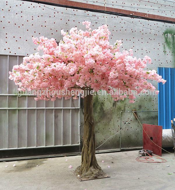 Halve bol kunstmatige nep kersenbloesem boom zijden bloemen bomen voor tuindecoratie kunstmatige - Japanse tuindecoratie ...