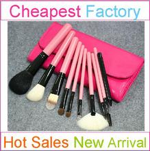 10pcs excellent makeup brush set with makeup brush pink