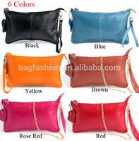 Women purse casual shoulder bag with chains fashion wristlet clutch party bag