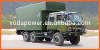 Military used vehicle mounted diesel generator