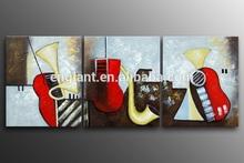 Handmade musical instrument oil painting