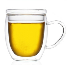 To Go Leisure Heat Proof Double Wall Glass Tumbler With Cover