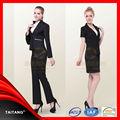 Alta calidad 2014 de la venta caliente venta al por mayor nuevo diseño de colores con estilo de la oficina uniforme para ladys