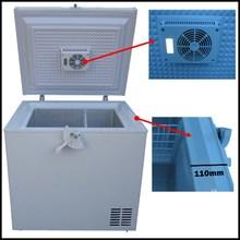 2014 NEW Model Thick 110mm Insulation DC Power 12V 24V Solar Deep Freezer with Inner Fan