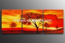 Sunset landscape oil painting on canvas