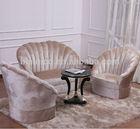 New Classical Fan Shape Fabric Sofa Set, Living Room Sofa