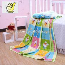 Novos 2014 produtos do bebê 100% algodão bebê crianças cobertor Swaddle toalha de banho com imagem dos desenhos animados - cor verde