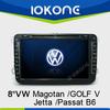 8 inch touch screen double din car dvd gps for VolksWagen Jetta/Sagitar/Caddy/Touran/magotan/GOLF V/Passat B6/CC/Scirocco
