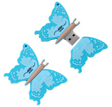 Pormo gifts lovely design butterfly usb flash drive 500gb