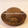 Moda de papel sombrero de paja/venta al por mayor de paja sombrero figura boater/baby sombrero de verano