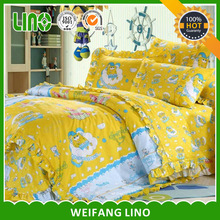 children cartoon design cotton bed sheet/comforter set/kid bedsheet