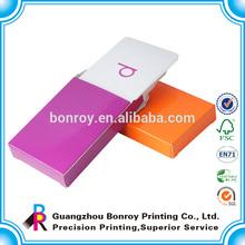 Round corner white edge playing cards printing