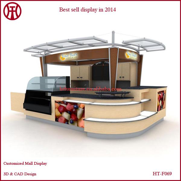 3d Design Hot Sell Mall Juice Bar Kiosk Display Furniture