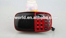 AWS932 USB/FM/TF mini bluetooth 2.1 speaker With Lanyard