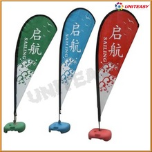 large hanging banners flags