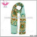 de color azul brillante 2014 azteca bufanda zig zag de impresión mantón de antigüedades