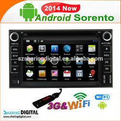 Kia-7678GDA Android 4.2.2 Auto radio with gps WIFI 3G Kia Sorento car dvd radio player gps navigation