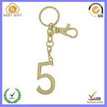 Custom numbers shaped keychain