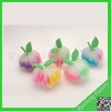 Wholesale colorful cleaning sponge net bath sponge in fruit shape