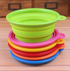 Wholesale FDA LFGB Standard Food grade Eco-friendly folding silicone dog bowl logo with dog paw