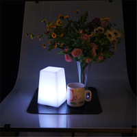 Remote controlled PE plastic led rechargeable decorative lantern table light