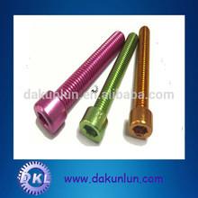 Oxidation aluminum screws, socket head cap screws