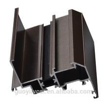 Powder coated thermal-break extruded aluminum profiles