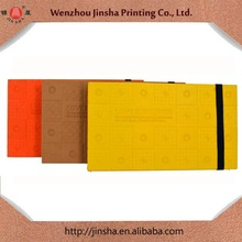 hot selling stylish design notebook/ photo album/ colorful cover notebook with elastic band