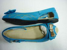 Blue shoes women peep toe women flats blue shoe TPR outsole